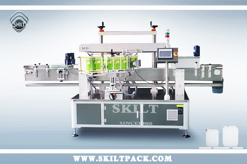 Container Two Sides Labeling machine