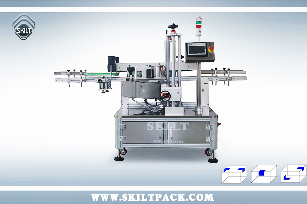 Pill Box Corner Labeling Machine